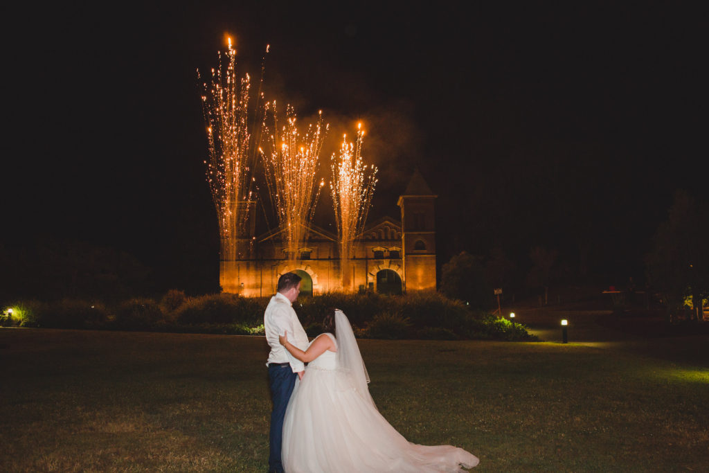 wedding fireworks Brisbane
